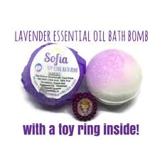 Ring <b>Sofia Princess Kids</b> Bath Bomb Lavender Essential Oil | Etsy