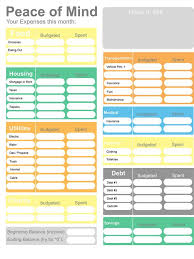 Budget Form New Printable Budget Home Budget Worksheet Colorful Budget Form Etsy