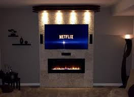 com napoleon efl50h linear wall mount electric fireplace 50 inch home kitchen