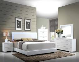 led bedroom set acme 5 ii high gloss white finish wood led accents queen bedroom set