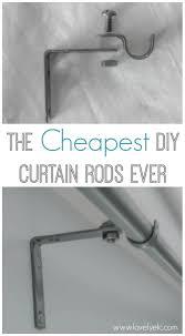Curtain Rod Alternatives The Cheapest Diy Curtain Rods Ever Lovely Etc