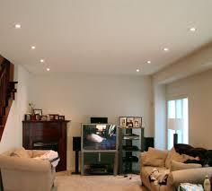 ceiling living room lighting in simple theme with rounded recessed lighting made of silver metal