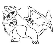 Big Pokemon Coloring Pages Charizard Dreadeorg