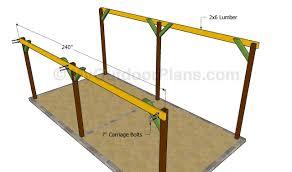 Wood Work Attached Car Carport Plans PDF Plansattached car carport plans