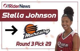 Stella Johnson selected by Phoenix Mercury in WNBA Draft – The Rider News