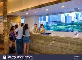 miami florida intercontinental hotel lobby front desk check in reservations guests family
