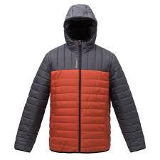 <b>Куртка мужская Outdoor</b>, <b>серая</b> с оранжевым