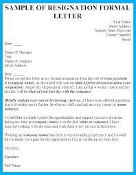 resigning letter format samples formal resignation letter sample zippapp co