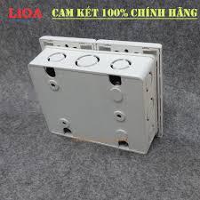 Combo ổ cắm điện đôi 2 chấu 16A (3520W) + 2 công tắc điện LiOA có cầu dao  chống quá tải 15A - Âm tường