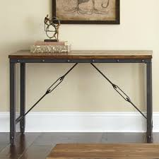 industrial sofa table style