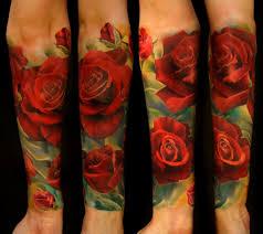 тату эскизы красная роза