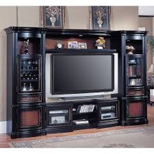 glossy black wood entertainment center for flat screen tv stand featured wine glass cabinet stunning