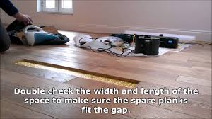 how to repair a damaged plank in a real wood floor