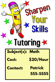 tutoring flyer template postermywall