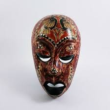 african mask congo museum quality tribal small wooden antique art zulu face