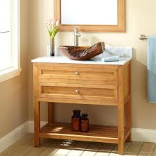 open shelf bathroom vanities unstained maple wood small vanity in cream  having single and two drawers