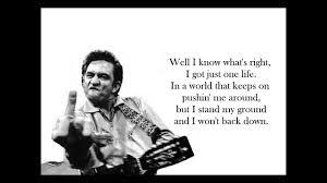 I Wont Back Down Johnny Cash Good Audio Lyrics