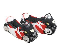motorcycle slippers would make a great stocking filler this
