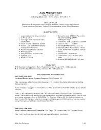 Cad Engineer Sample Resume 9 Autocad Designer Computer
