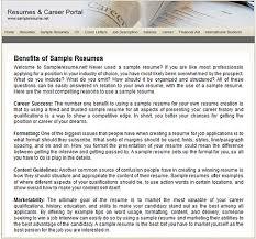 sampleresumenet dot net resume sample