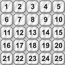 Number Chart 1 To 25 Bedowntowndaytona Com