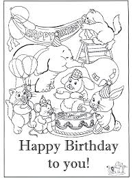 Small Picture Happy Birthday Coloring Pages Disney Free Printable Coloring