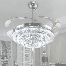 ceiling fans with chandelier led crystal chandelier fan lights intended for led light chandelier ceiling