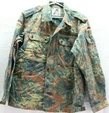 German Flecktarn Camo Shirt Jacket W Zipper Size 95 W