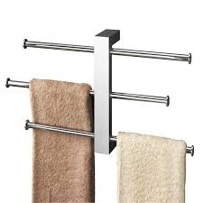 towel bar with towel. Gedy Bridge Wall Mounted Towel Holder Rails Set 7630-13 Bar With