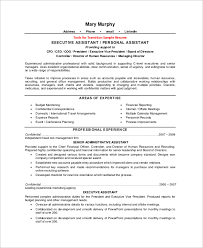Sample Executive Assistant Resume - 8+ Examples In Word, Pdf