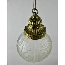 french art deco globe ceiling light fixture divine style french antiques