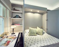 murphy bed desk. Bedroom - Small Transitional Guest Idea In London With Gray Walls Murphy Bed Desk