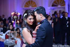 indian wedding reception groom bride in aberdeen new jersey indian wedding by house of talent hairstyle