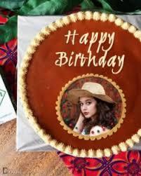 Birthday Cake Photo Frame Online
