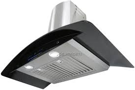 Kitchen Hood 30034 Wall Mount Black Glass Amp Stainless Steel Range Hood
