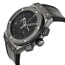hublot classic fusion matte black automatic chronograph black cm 1110 hublot classic fusion matte black automatic chronograph black alligator men s watch 521