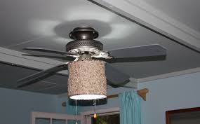 image of ceiling fan light shades fabric design
