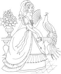 Kids Free Peacock Coloring Pages Printable