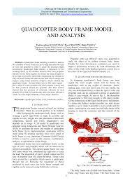 Quadcopter Design Theory Pdf Quadcopter Body Frame Model And Analysis
