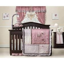 Bby Baby Girl Crib Bedding Purple And Gray Nursery Curtains Sets Walmart.