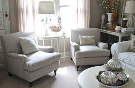comfortable chairs for living room. Brilliant Room Comfortable White Sofas With Pillows A Console Table Some  Decorative Items And Lamp For Comfortable Chairs Living Room L