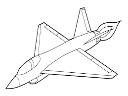 fighter plane coloring pages kids airplane color dc 9 military jet page