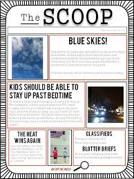 School Newspaper Template Publisher The Scoop Editable Student Newspaper Template Slp Writing