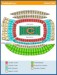 Soldier Field Chicago Bears Seating Chart Soldier Field Mapa Asientos Imagenes Direcciones Y
