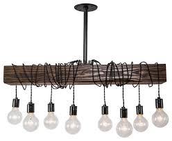 west ninth vintage wood beam chandelier