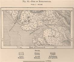 Port Of Buenaventura Colombia 1885 Old Antique Vintage Map Plan Chart