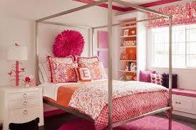 pink and orange kids bedding
