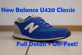 new balance u420. new balance u420 classics \u0027royal blue\u0027 - full detail \u0026 on-feet! youtube