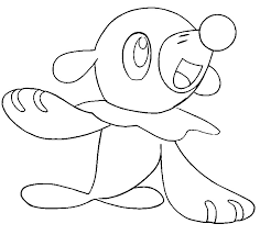 Small Picture Coloring page Pokemon Sun and Moon Popplio 2