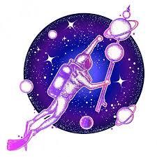 Vektorová Grafika Prostor Potápěč Plave V Umění Tetování Vesmíru